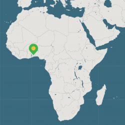 Carte Togo-Canton de Tado